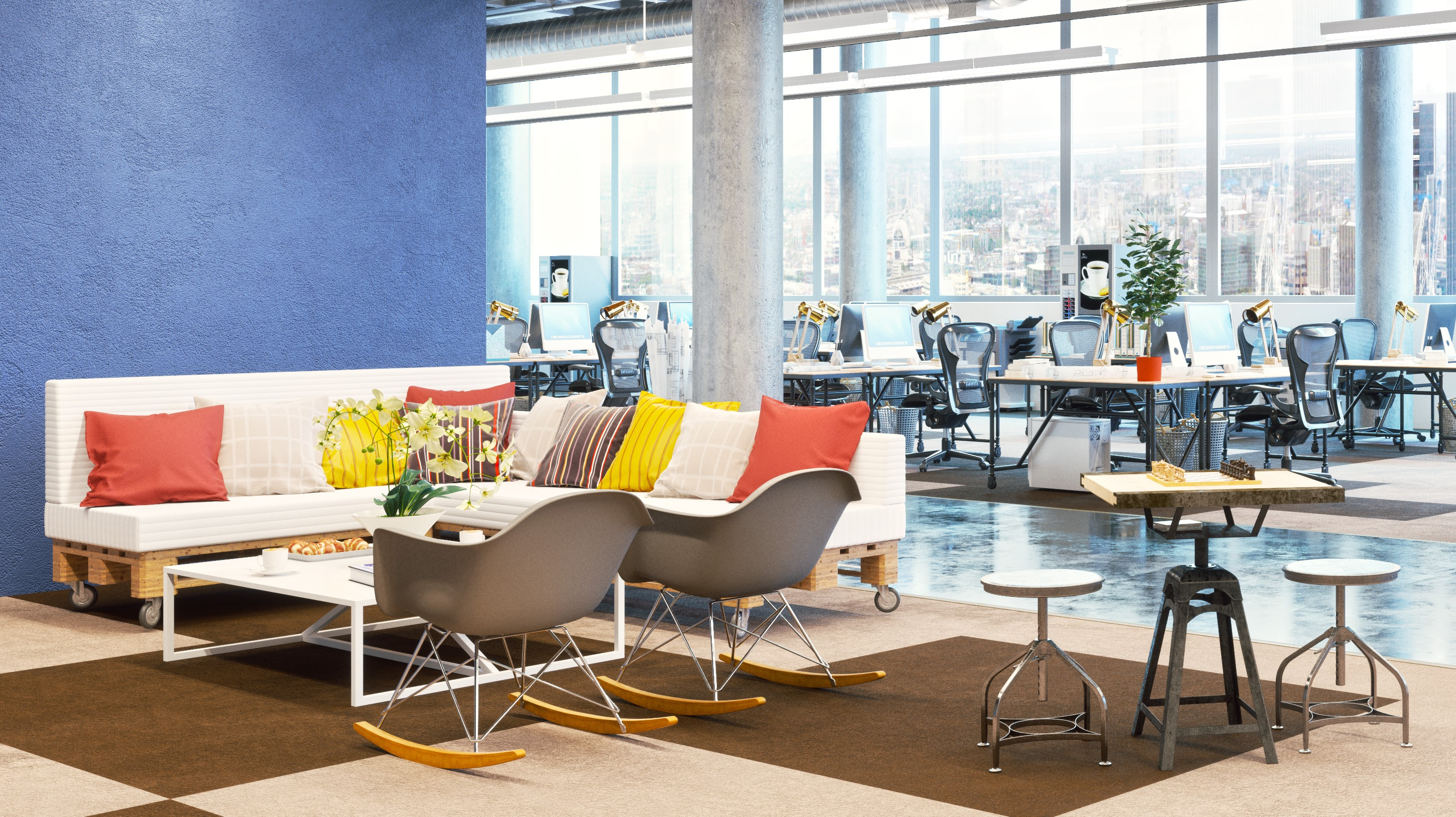 Colour can add dynamics to your office – check it out here!